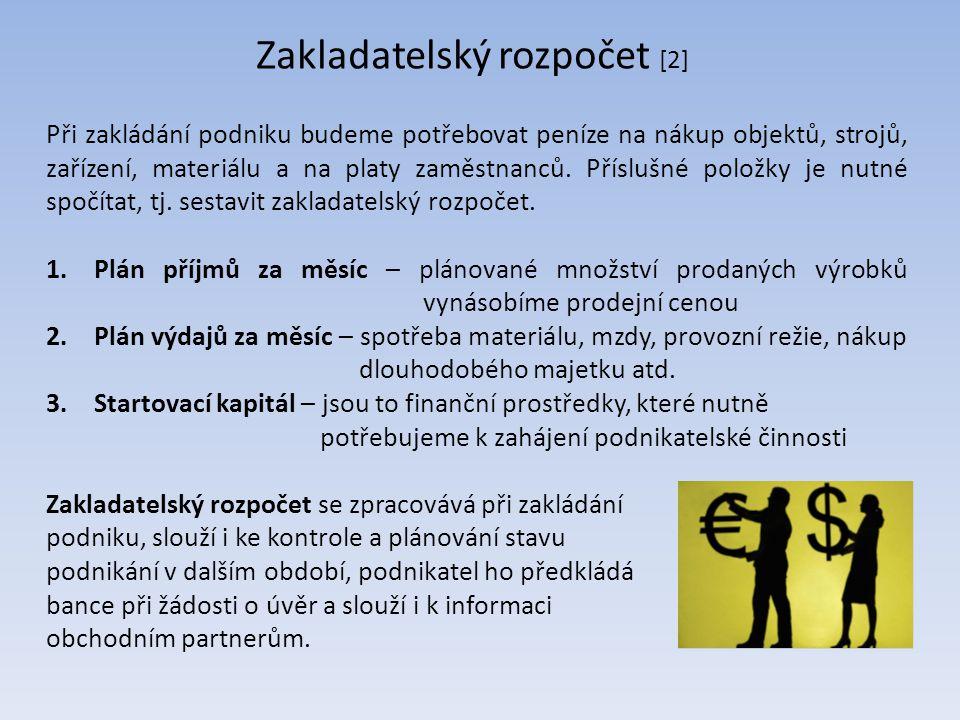Zakladatelský rozpočet [2]